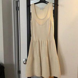 Sandro Cream Knit Dress